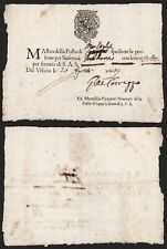 Italy 1649 - Estafette Courrier Document Modena F56