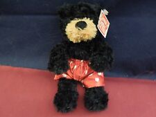 """Gund """"Kissa"""" Bear in Red Shorts With White Hearts"""