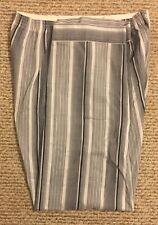 Two Sets Men's Gray Stripe Pajamas Size Large Long Pair and Short Pair GUC