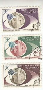 Cameroon 1963 Telecommunication 3 Stamps 1f 2f 3f MNH CTO