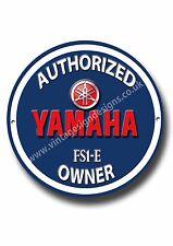 YAMAHA FS1-E, autorizzate YAMAHA FS1E proprietario rotondi metallo segno.