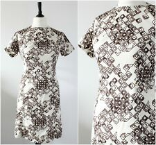 Vintage 1960s Mod Dress Geometric RETRO Scooter Gogo Space Age Shift Dress 12