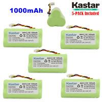 Kastar 5Pack 1000mAh for SYMBOL 82-67705-01, BTRY-LS42RAAOE-01,  LS-4278 Scanner