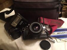 Jenaflex AC-1  SLR Camera + 2 Practikar Lenses, Prakticar Flash, & Padded Case.