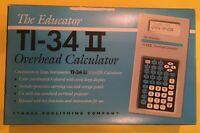 TI-34 II And TI-15 Overhead Calculator - The Educator - Texas Instruments New.