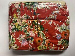 NEW Ralph Lauren CALIFORNIA KING Bedskirt BELLE HARBOR Floral White Red  Cal