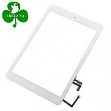 For iPad Air 1st Gen Touch Screen Digitizer White Glass Home Button Adhesive