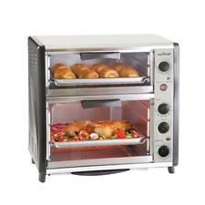 Nutri-Chef PKMFTO26 Multi-Function Dual Oven with Rotisserie & Roast Cooking