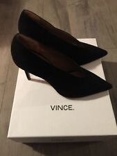 Genuine VINCE WOMANS BLACK SUEDE SHOES SIZE 6 PREOWNED