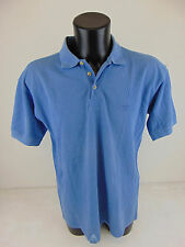 USATO HANES L Polo T-Shirt Top Vintage Blue Azzurro Celeste