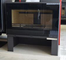 Wood Burning Stove Solid Fuel 11-14 kw Large Glass Top Flue BImSchV Modern Desig