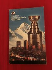 1996-1997 NHL Colorado Avalanche media guide / 1996 Stanley Cup / Roy / Sakic