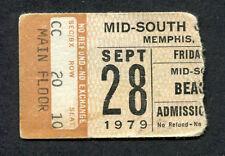 Original 1979 The Beach Boys concert ticket stub Memphis Tn Surfin Usa
