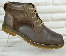 TIMBERLAND Mens Brown Leather Outdoor Lace-Up Ankle Boots Size 8.5 UK 43 EU