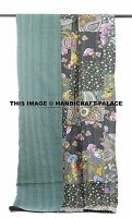 Indian Vintage Hand Made Patchwork Kantha Bed Spread Quilt Twin Size Blanket