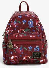 Loungefly Disney Mulan Mushu Floral Backpack Bag NWT