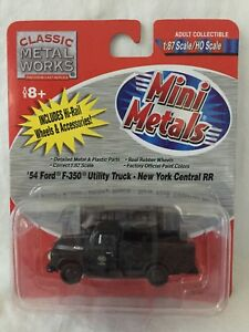 Mini Metals HO Scale '54 Ford F-350 New York Central RR Utility Truck #30213