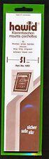 Hawid Stamp Mounts Size 51/210 BLACK Background Pack of 25