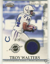 2002 PACIFIC EXCLUSIVE GAME JERSEYS TROY WALTERS GOLD
