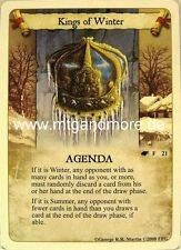 A game of thrones LCG - 1x Kings of invierno #021 - The Winds of invierno