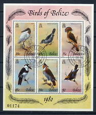1980 Belize SC 500 SS Souvenir Sheet, Used CTO - Birds of Belize*