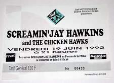 SCREAMIN JAY HAWKINS billet ticket concert FRANCE Marseille 19/06/1992
