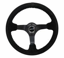 NRG 350mm Suede w/Black Baseball Stitching Deep Dish Steering Wheel