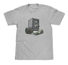 Cash and Safe Money Grey Tee size XL