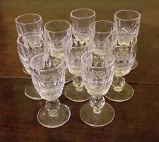 Set Of 10 Waterford Crystal Colleen Pattern Liquer Glasses