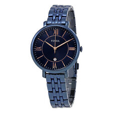 Fossil Jacqueline Navy Blue Dial Ladies Watch ES4094