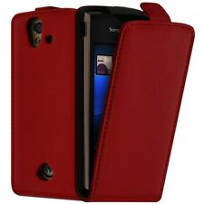Housse Coque Etui pour Sony Ericsson Xperia Ray ST18i Couleur Rouge