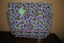 Vera Bradley PLUM PETALS GO ROUND TOTE NWT Gym, carry on, baby, office, purple