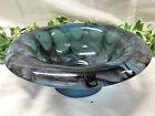 Beautiful Blue & Purple Vintage Davidson Art Deco Cloud Glass Bowl 9.5