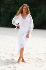 BNWT MISS JUNE EMBROIDERED LONG  MAXI LACE COTTON WHITE DRESS O/S