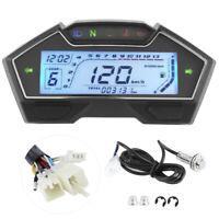 12V Motorcycle Speedometer Tachometer 13000RPM Dashboard Fuel Level Gauge 9-16V