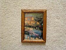 "Vintage Thomas Kinkade Lamplight Inn 1994 Wood Framed 5"" X 7"" VG"