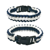 Navy Outdoor Camping Paracord Rope Bracelet Wristband Emergency Survival Unisex
