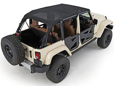 Smittybilt Extended Mesh Top & Header Channel Set 2010-2017 4dr Jeep Wrangler JK