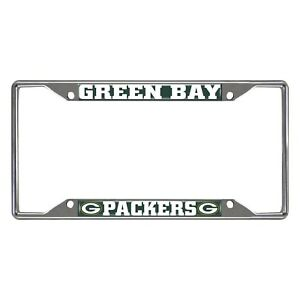 Fanmats NFL Green Bay Packers Chrome Metal License Plate Frame Delivery 2-4 Days