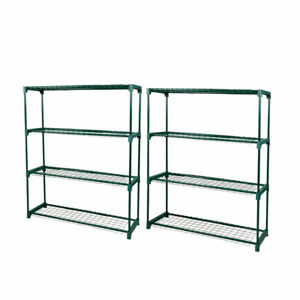20% OFF 2x 4 Tier Plant Stand Shelve Garden Steel Storage Shelving Frame Stand