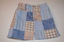 Hartstrings 3T Skirt Madras Plaid Patchwork