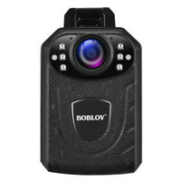 BOBLOV Police Body Camera Touch Screen 1296P HD Night Vision For Law Enforcement