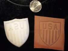 """Large 2"""" USA Shield Embossing Stamp , Leather Tooling, Clicker Stamp, Delrin"""