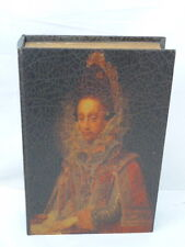 VINTAGE 1613 WOMAN PORTRAIT WOOD BOOK SAFE