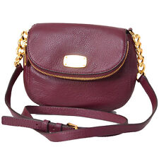 Michael Kors Small Bedford Leather Crossbody Phone Bag Purse $248 Merlot Dk Red