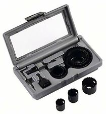Bosch 11 pieza Hcs holesaw Set 22 25 29 35 38 44 51 68 mm + Adaptador + Funda