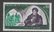 MONACO POSTAGE MINT COMMEMORATIVE STAMP 1968 BICENTENARY BIRTH OF CHATEAUBRIAND