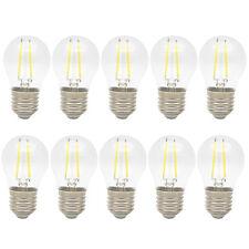 10x 2W E27 LED Glühbirne Tropfen Filament Glühbirne Lampe Birne Kaltweiß 6000K