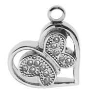 Butterfly Heart Cremation Keepsake Memorial Pet Ash Urn Pendant Jewelry Gift