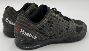 Reebok Crossfit Kevlar Shoes Men Sz 7.5 Black / Gold Cross Fit Gym Training Shoe